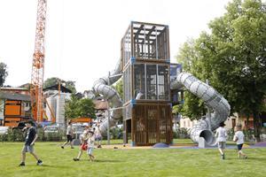 Eröffnung des Spielplatzes auf dem St. Martinsplatz in Eschen