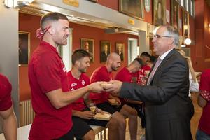 FC Vaduz beim Bürgermeister