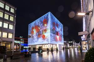 Lichtspektakel in Vaduz