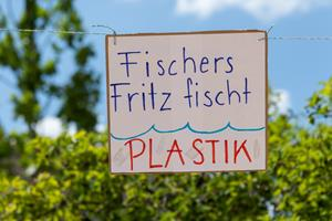 Klimastreik Plakate in Vaduz