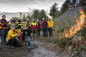Waldbrand am Modell